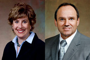 Sen. Jennifer Shilling (left), Dan Kapanke (right)
