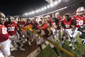 Badgers Celebrate with Paul Bunyan's Axe - Photo: Courtesy of the Badger Sports Network