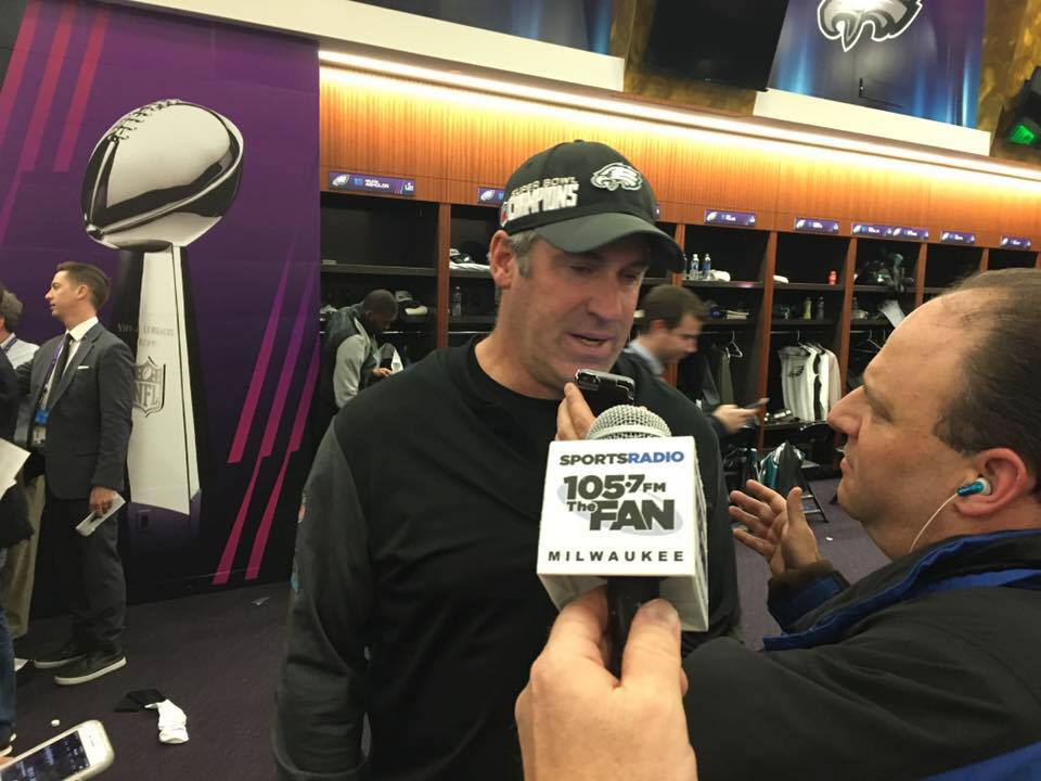 Pederson was on the attack, bringing the Lombardi Trophy to Philly for the first time