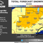 Winter storm to drop up to a foot of snow on parts of Wisconsin